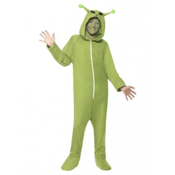 Disfraz de Extraterrestre de color Verde Infantil