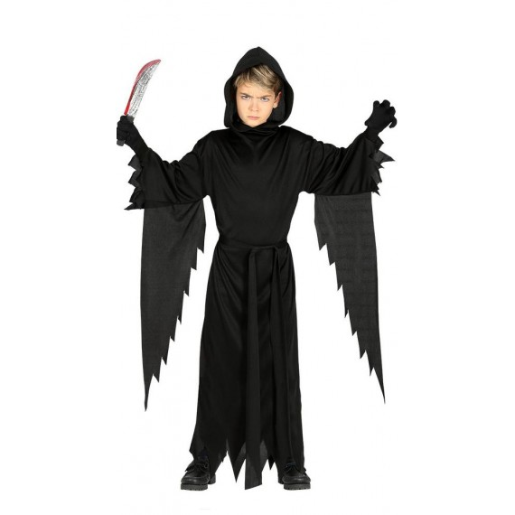 Disfraz de Asesino de color Negro para Niños