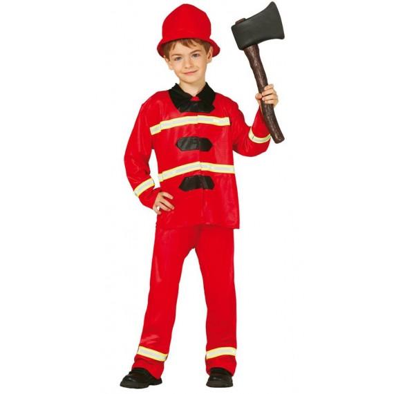Disfraz de Bombero de color Rojo para Niños