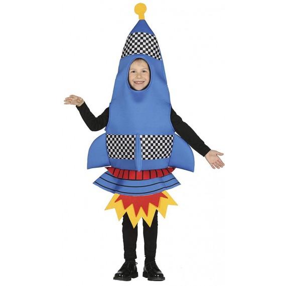 Disfraz de Cohete de color Azul Infantil