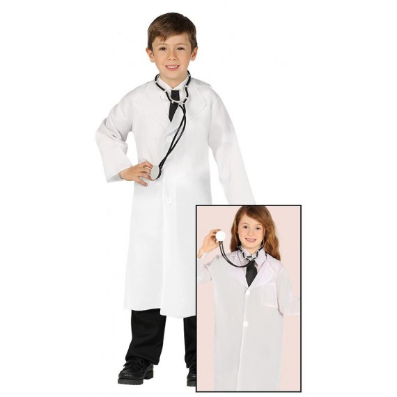 Disfraz de Doctor de color Blanco Infantil