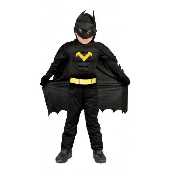 Disfraz de Héroe Murciélago de color Negro Infantil