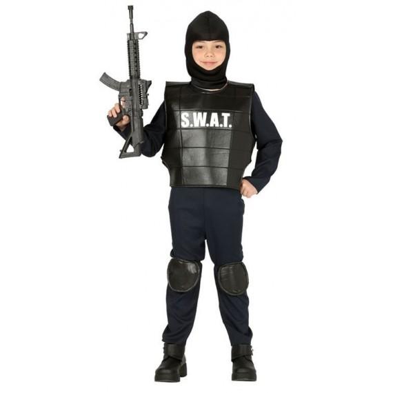 Disfraz de Policía S.W.A.T. de color Negro Infantil