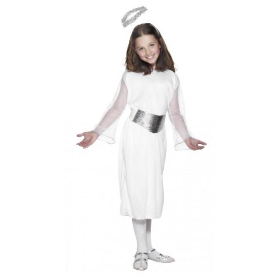 Disfraz de Ángel de color Blanco Infantil