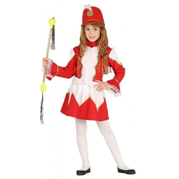 Disfraz de Majorette de color Rojo Infantil