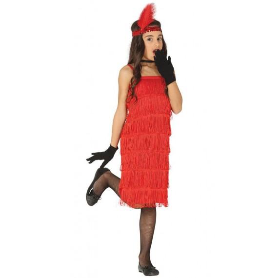 Disfraz de Charlestón de color Rojo Infantil