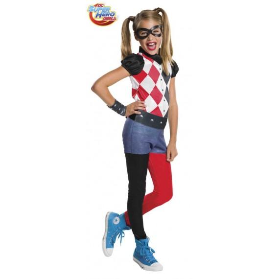 Disfraz de Harley Quinn Clásico de DC Super Hero Girls Infantil
