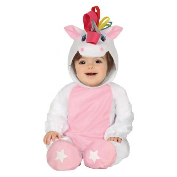 Disfraz de Bebé Unicornio de color Blanco