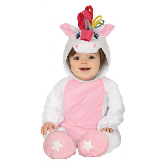 Disfraz de Unicornio de color Blanco para Bebé