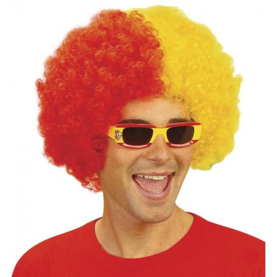 .Peluca Roja y Amarilla de España para Adulto