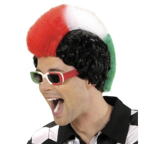 .Peluca de Sport's Fan Italia para Adulto