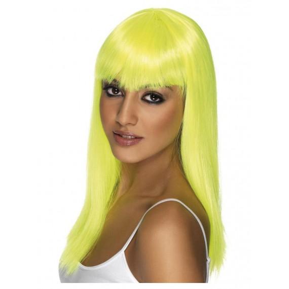 Peluca Amarilla Neón de Glamourama para Adulto