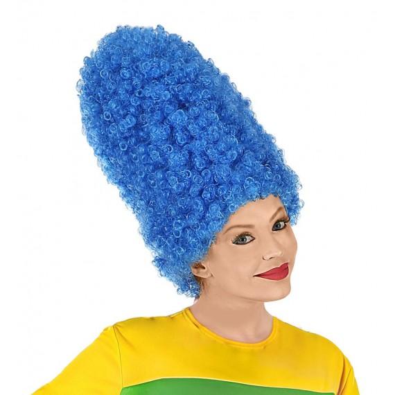 Peluca Azul de Cartoon para Adulto