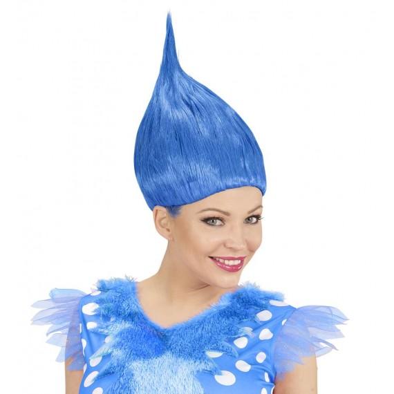 Peluca Azul de Troll para Adulto