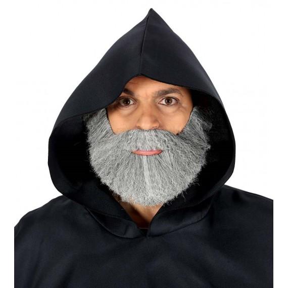 Barba Gris Tupida para Adulto