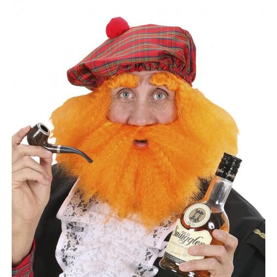 Set de Escocés de color Naranja para Adulto