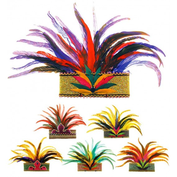 Corona Rio de Janeiro con Plumas Varios Colores para Adulto