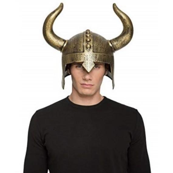 Casco de Vikingo de 60 Centímetros de color Oro para Adultos