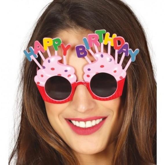 Gafas de Happy Birthday de color Rosa para Adulto