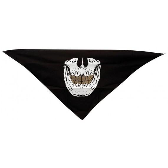 Bandana de color Negro con Calavera para Adulto