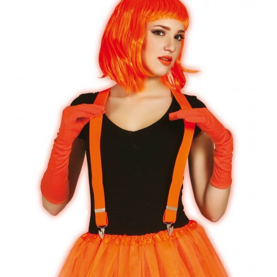 Tirantes de color Naranja Neón para Adulto