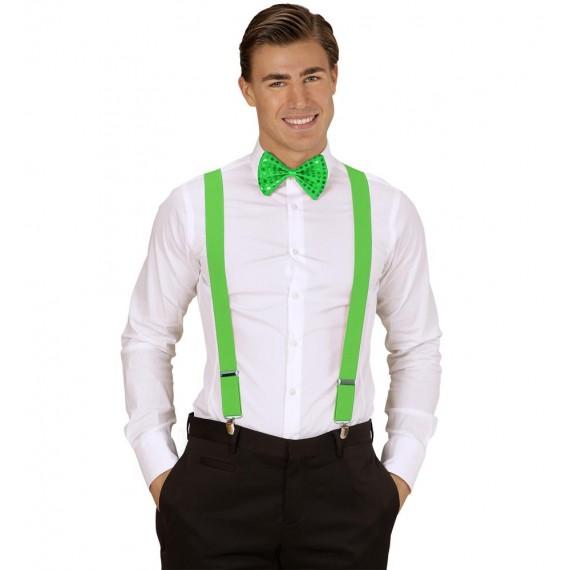 Tirantes de color Verde Extra Largos de 115-120 Centímetros para Adulto