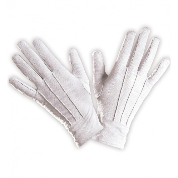 Guantes de color Blanco para Adulto