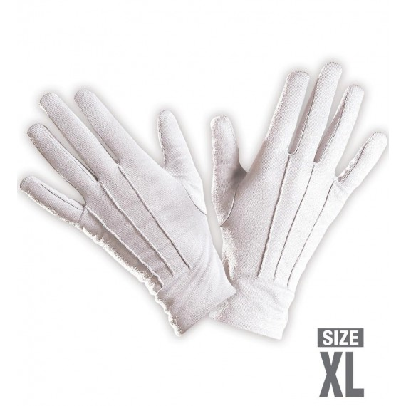 Guantes de color Blanco Talla XL para Adulto