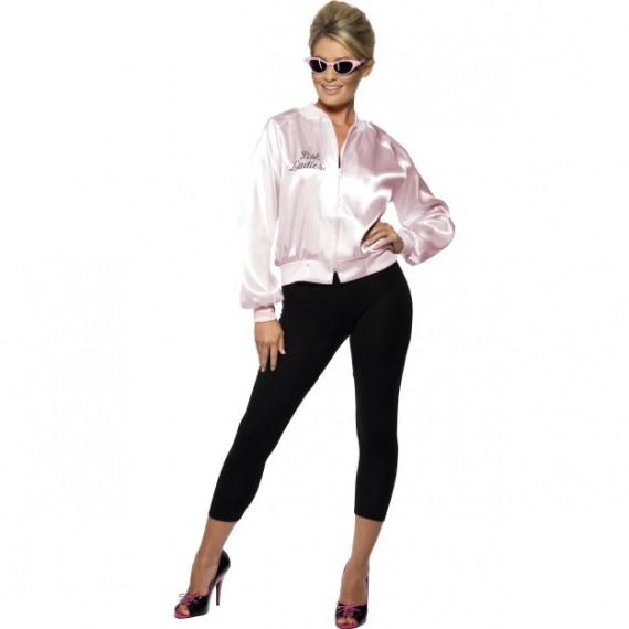 Cazadora de Pink Lady de Grease de color Rosa para Adulto