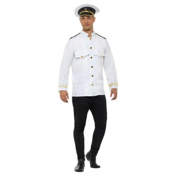 Chaqueta de Capitán Blanco para Adulto