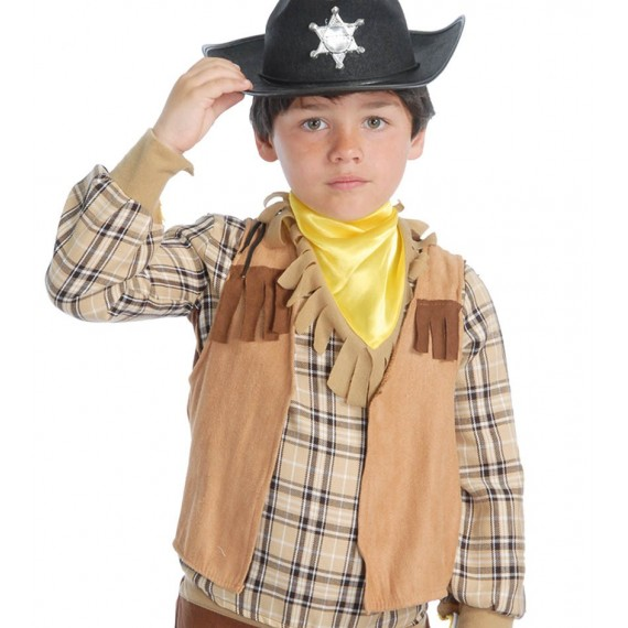 Chaleco de Vaquero o Indio de color Marrón Infantil