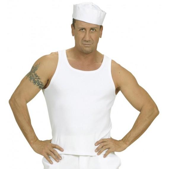 Camiseta sin Mangas de color Blanco para Adulto