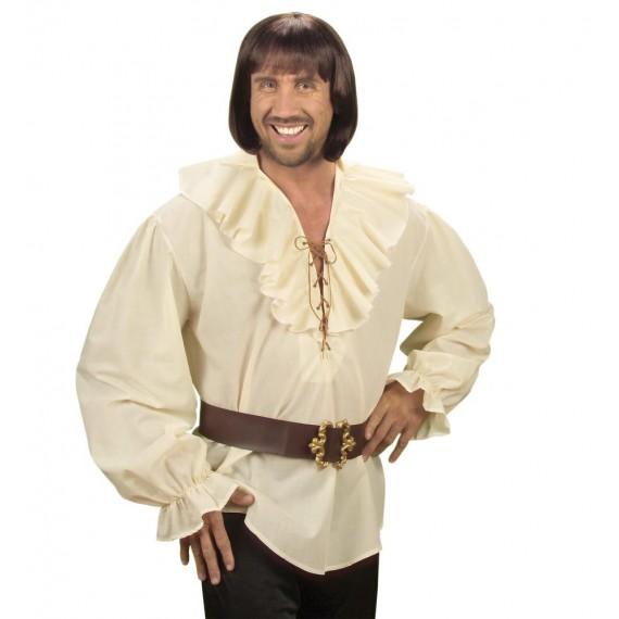 Camisa de Pirata o Renacentista de color Beige para Adulto