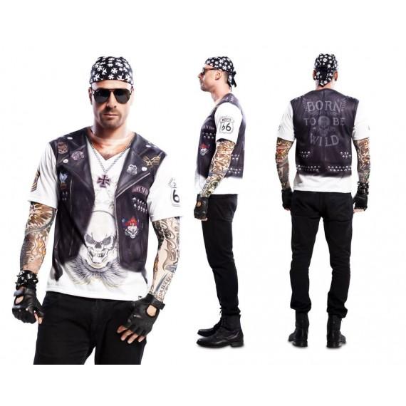 Camiseta de Hell Boy con Tatuajes para Adulto