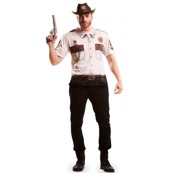 Camiseta de Policía Sheriff para Adulto