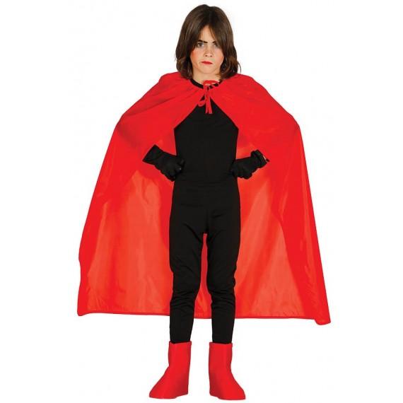 Capa de color Rojo de 100 Centímetros Infantil