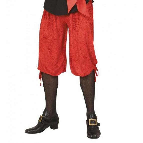 Pantalón Corto de Terciopelo de color Rojo para Adulto