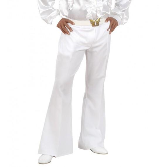 Pantalón Acampanado de color Blanco para Adulto