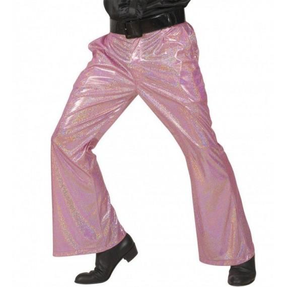 Pantalón Acampanado de color Rosa para Adulto