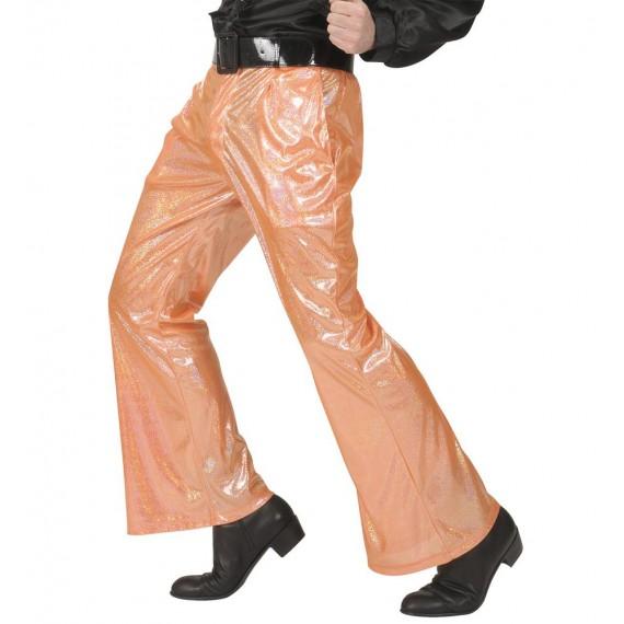 Pantalón Acampanado de color Naranja para Adulto
