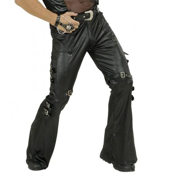 Pantalón de Rockero o Motero de color Negro