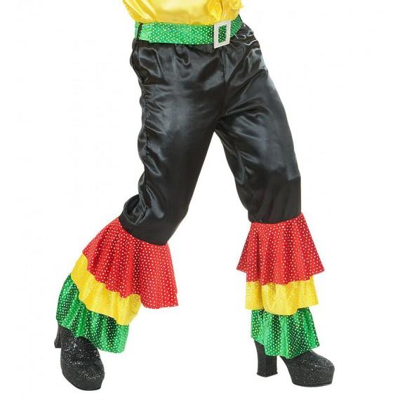 Pantalón de Raso de color Negro para Adulto