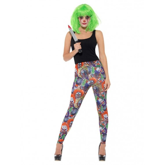 Leggings de Payaso Terrorífico para Adulto