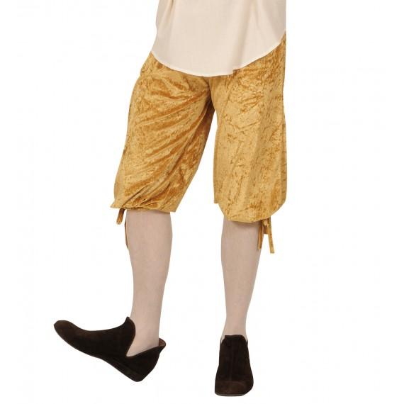 Pantalón Corto de Terciopelo de color Beige para Adulto