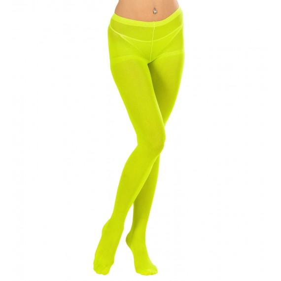 Medias de color Verde Fluorescente de 40 DEN para Adulto