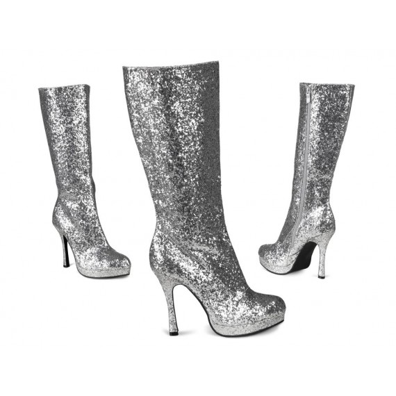 Botas Temptation Glitter de color Plata para Adulto
