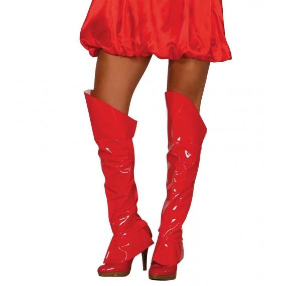 Cubrebotas de color Rojo de 60 centímetros para Adulto