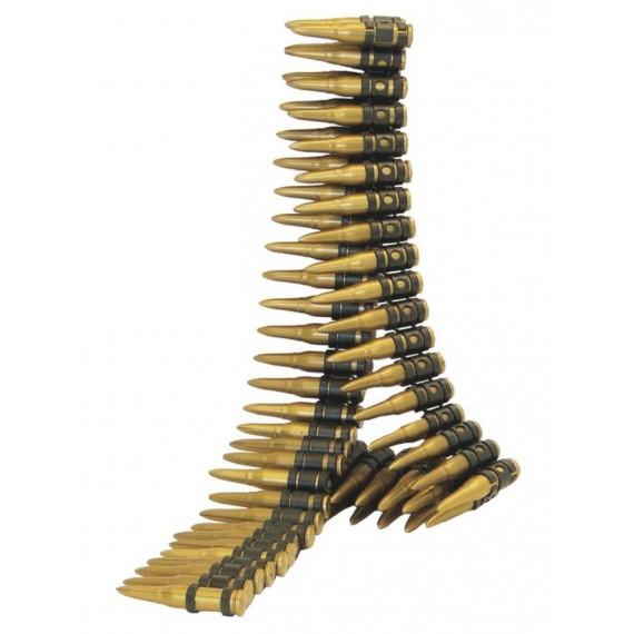 Cinturón con Balas de color Oro de 150 Centímetros