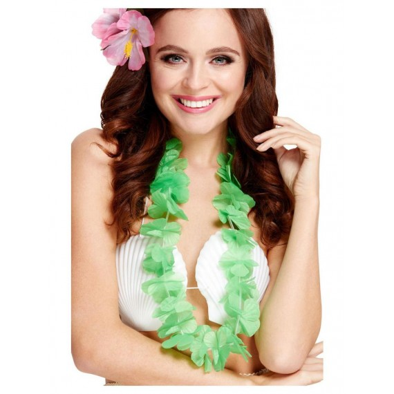 Collar Hawaiano de color Verde Fluorescente para Adulto