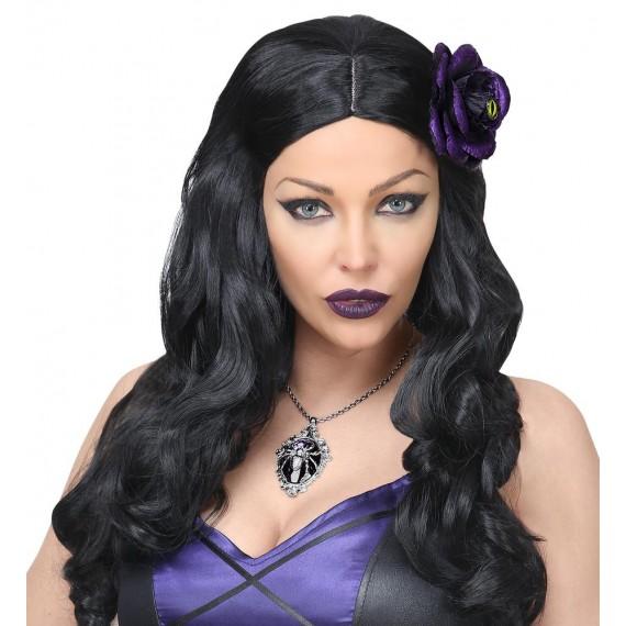 Collar de Gema Araña de color Violeta para Adulto